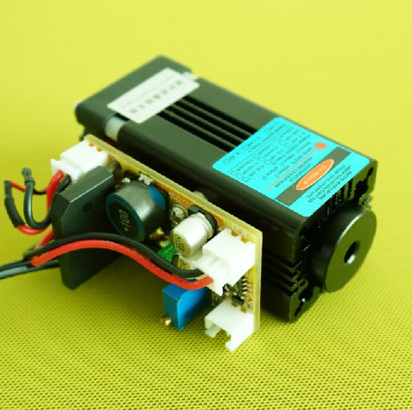 445nm/450nm 3.5w~4w 青色 レーザーモジュール with TTL modulation(NICHIA NDB7A75)